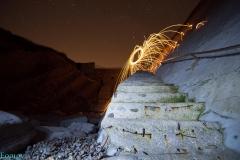 Lightpainting en las escaleras de Algorri